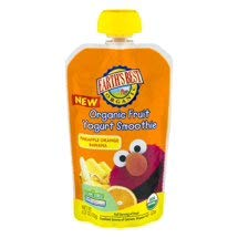 6 Pouches of Earth's Best Organic Fruit Yogurt Smoothie, Pineapple, Orange, Banana, 4.2 Oz ea (Orange Pineapple Banana)