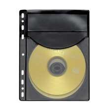 Exceptionnel 20 Compucessory CD/DVD Half Sheet Storage Binder Filing Sleeve (Holds 2  Discs)