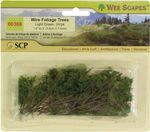 Wee Scapes Architectural Model Trees Wire Foliage Trees (light green) 1 1/2 in. - 3 in. pack of 24