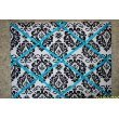 Damask with Turquoise Ribbon French/memo...