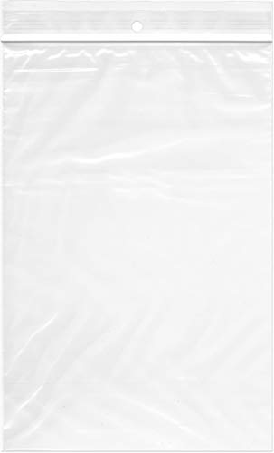 - Plymor Zipper Reclosable Plastic Bags, 2 Mil with Hang-Hole, 6