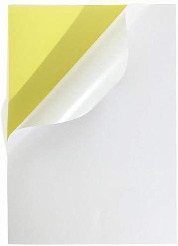 100 ورقة مقاس A4 عالية اللمعان بملصق أبيض لطباعة علامات ورقية عالية اللمعان ورق بمادة لاصقة قوية لطباعة أي علامة تجارية Os Lb01a4g Amazon Ae
