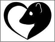 - GSF Frames Ferret Heart 6x5 Inch Out Door Vinyl Decal for Laptop, Car, Window, Computer, Etc. Black