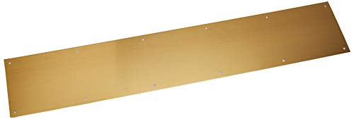 Ives by Schlage 6X34 Schlage C8400B3 Kick Plate, 34 in L X 6 in W, for Use with Exterior Or Interior Door Surface, 6