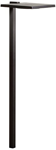 "Kichler Lighting 15805BKT27R 23.8"" 4W 1 LED 2700K Shallow Shade Small Path Light, Textured Black Finish"