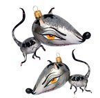 Slavic Treasures EXT087004 Rabid Rat- Freeblown Halloween Rat