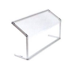 Carlisle 924807 Acrylic Adjustable Single-Sided Sneeze Guard with Aluminum Frame, 48-1/4 x 12.44