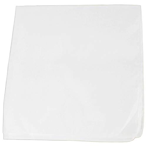 50 Pack Daily Basic Solid 100% Cotton 22 x 22 Bandanas (White)]()