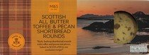 Scottish Food (M&S / Marks & Spencer | Scottish All Butter Toffee & Pecan Shortbread Rounds 180g | From the UK)