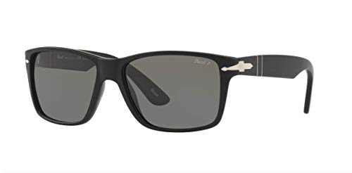 Persol Men's 0PO3195S Matte Black/Gradient Grey One Size (Sunglasses Persol)