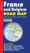 Philip's France and Belgium Road Map (Philip's Road Maps)