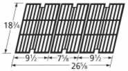Music City Metals 63123 Gloss Cast Iron Cooking Grid Set Replacement for Select Gas Grill Models by BBQ Pro, Charbroil and Others by Music City Metals
