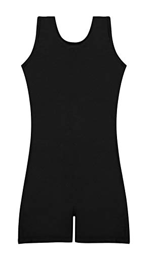 Dance Biketard Costumes - Speerise Unitard Kids Short Tank Biketard