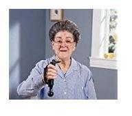 Steady Spoon Adult Handle: 5_''L x 1_''D. Handle & bowl: 9_''L. Strap: 5''L. Weighs 8 oz., Black.