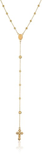 Richline 14k Yellow Gold Rosary Bead Necklace, 24""