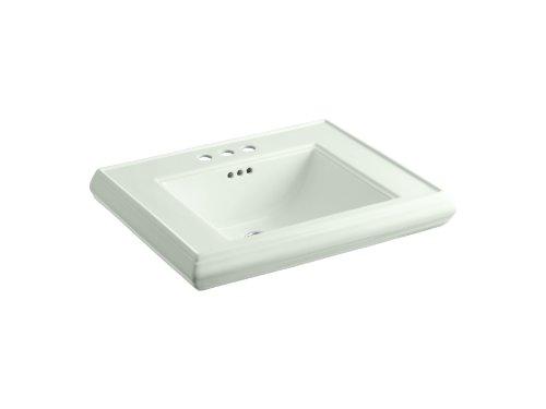 (KOHLER K-2259-4-NG Memoirs Pedestal Bathroom Sink Basin with 4