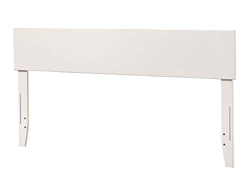 Atlantic Furniture Orlando Headboard, Queen, White (Headboard Short)