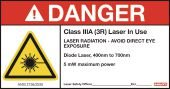 HIlti 3528371 Laser Warning Sign Class 3R (5-pack) measuring systems