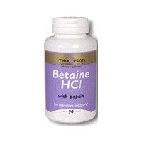Thompson Betaine HCI with Pepsin, 90 Tabs 324 MG by Thompson ()