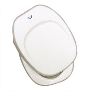 Thetford 36787 Aqua Magic IV Toilet Seat & Cover, Parchment