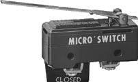 Basic Snap Action Switches MT Std Basic Switch Strght Lever Actutor