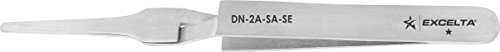 (Excelta - DN-2A-SA-SE - Tweezers - Flat Point - Reverse Action - Straight Tapered - One Star - Anti-Mag. SS, 0.5