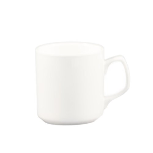 CAC China MUG-55-P 12-Ounce Porcelain Round Royal Mug, 3-1/2-Inch, Super White, Box of (Royal Hotel Resort)