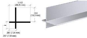 CRL Brite Anodized Aluminum Cross Corner Extrusion - - Anodized Aluminum Corner Cross