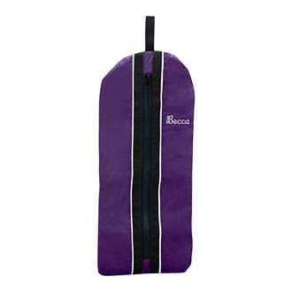 Dover Saddlery Fleece-Lined Bridle/Halter Bag - Purple/White/Black by Dover Saddlery