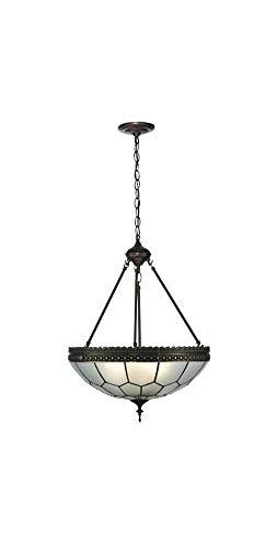 "Meyda Tiffany 26787 Vincent Honeycomb Inverted Pendant Light Fixture, 19"" Width"