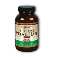 Life Time Nutritional Specialties Supreme Vital Hair, 120 caps (Pack of 3)
