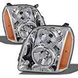 For GMC Yukon XL Hybrid OE Replacement Chrome Bezel Headlights Driver/Passenger Head Lamps Pair