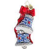 Christopher Radko Blue Bell Elegance Christmas Ornament