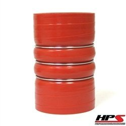 HPS CAC-500-L8-HOT Silicone High Temperature 4-ply Aramid Reinforced Charge Air Cooler CAC Hose Hot Side, 100 PSI Maximum Pressure, 8