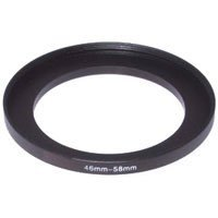 Adorama Step-Up Adapter Ring 46mm Lens to 58mm Filter Size