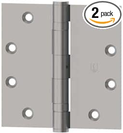 Hager 1279000350035150 Architectural Hinge Pack of 2 US15 Finish 3.5x3.5