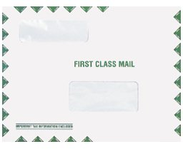 EGP Double Window Tax Organizer Mailing Envelope - Peel and Seal