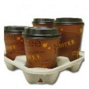 4 cup holder/carrier, paper, for 8~24 oz cup (300pcs/ctn, Karat)