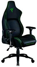 Razer Iskur Gaming-Chair: Ergonomic Lumbar Support System - Multi-Layered Synthetic Leather - High-Density Foam Cushions - Engineered to Carry - Memory Foam Head Cushion