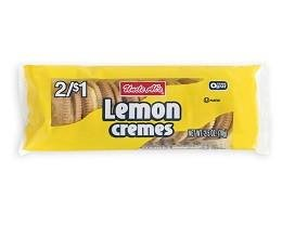 Uncle Al's Lemon Creme Cookies - 2.5 oz (Pack of 12) - Lemon Cream Sandwich Cookies