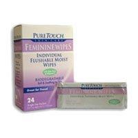 Puretouch Feminine Wipes - Puretouch Feminine Wipes Flushable -- 24 Wipes