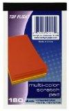 Top Flight Scratch Pads, 3 x 5 Inches, Multi-colored Paper,