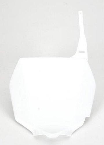 UFO Plastics Front Number Plate White for Suzuki RM RMZ 125 250 450 (Suzuki Rm 250 Fender compare prices)