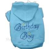 Mirage Pet Products 10-Inch Birthday Boy Hoodies, Small, Baby Blue For Sale