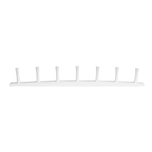 - Spectrum Diversified Wood Wall Hook Rack, White