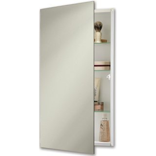 (Jensen 869P24WH Specialty Flush Mount Single-Door Recessed Mount Medicine Cabinet)