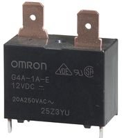 OMRON ELECTRONIC COMPONENTS G4A-1A-E DC12 POWER RELAY SPST-NO 12VDC, 20A, PC (Ac Current Sensing Coil)