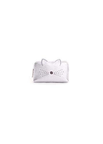 Ted Baker Oohan Cat Whiskers Mini Makeup Bag in Silver -