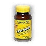 Nature's Plus Love-Bites Children's Chewable Multivitamins & Minerals. 180 Tablets(2 pack) - Chewable Love Bites