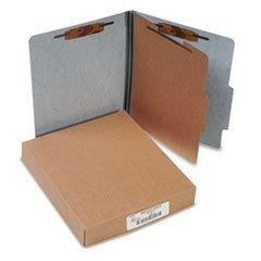 Presstex 20-Point Classification Folders, Letter, Four-Section, Gray, 10/Box (Recycled Presstex Classification Folder)